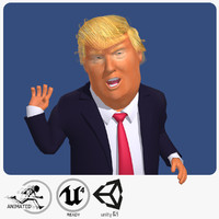 Real-Time Donald Trump Cartoon Caricature
