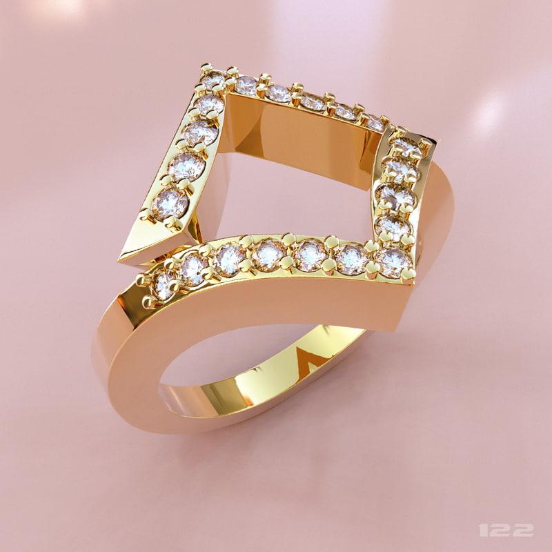 cnc gold 3d model