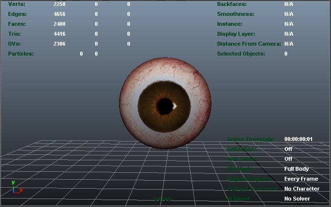 brown eye 3d model