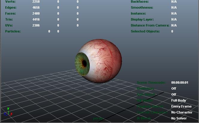 green eye 3d model