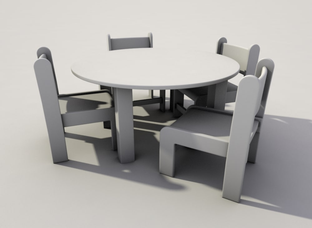 table chairs nursery 3d 3ds