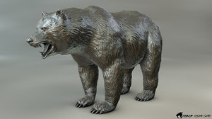 sculpted printing bear 3ds