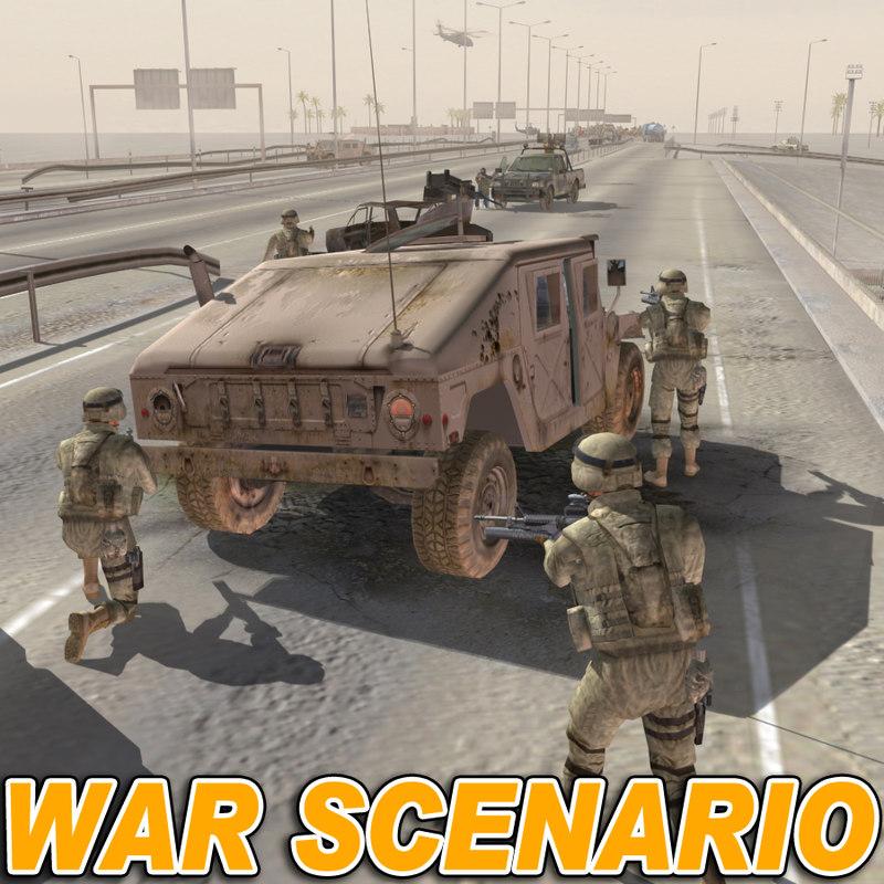 3d middle east war scenario