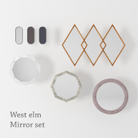 West elm Mirror set