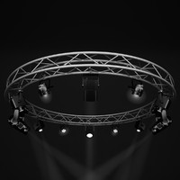 Stage Lights and Circle Square Truss 400cm