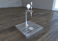 3d model draft beer pouring