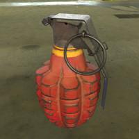 3d mk2 hand grenade