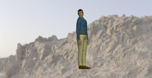 man looking 3d ige