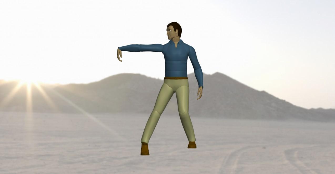 dancing man 3d ige