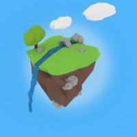 floating island 3d 3ds