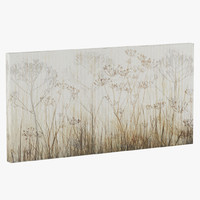 ATGR1486 Wildflowers Ivory Painting Print on Canvas