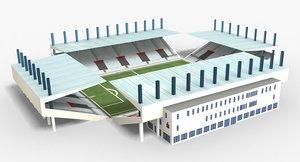 max stadium modeled scenes