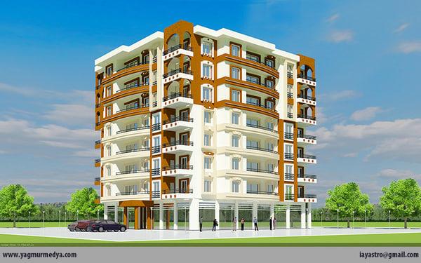 residencial building - 3d model