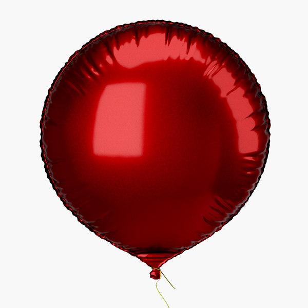 3d model balloon foil