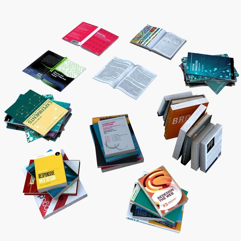 3d books magazines