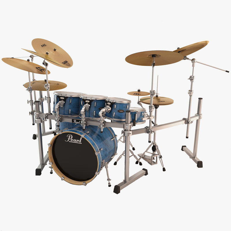 3d model pearl drum rack