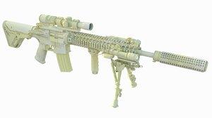3d m4a1 sopmod model