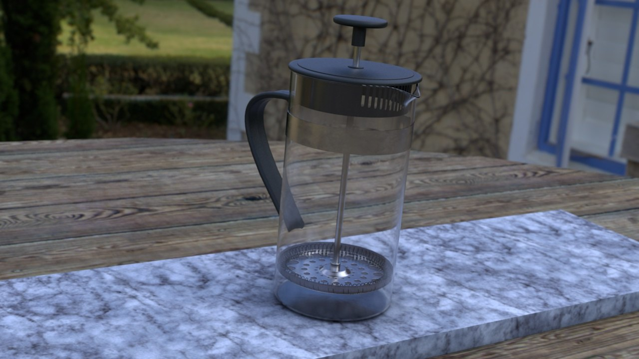3d model cafetiere coffee pot