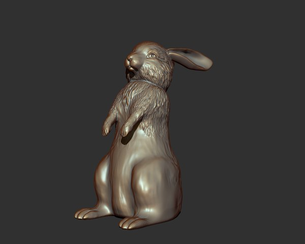 rabbit sculpture 3d model