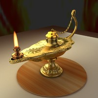 3d chinese magic lamp model