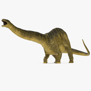 3d model apatosaurus dinosaur fighting pose
