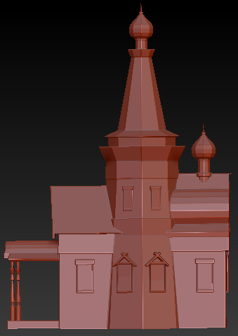 3d model abandoned church