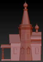 3d model abandoned church