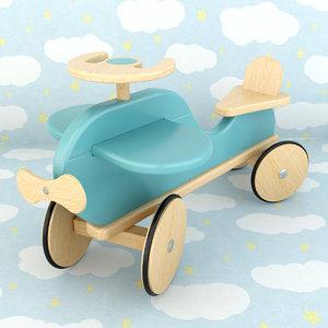 wooden plane 3d max