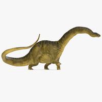 apatosaurus dinosaur walking pose 3d max