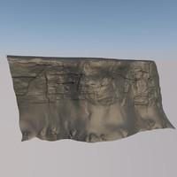 sand cliff 3d fbx