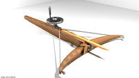 bow crossbow medieval 3d model