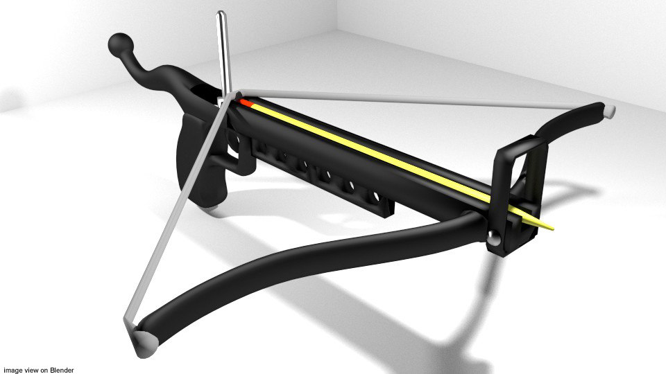 bow crossbow pistol 3d 3ds