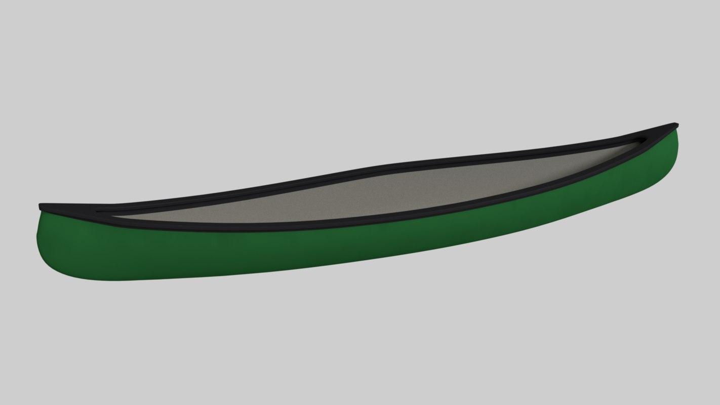 3d canoe blender