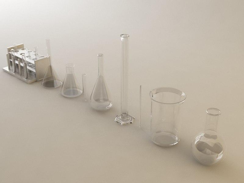 3d tools beaker flask model