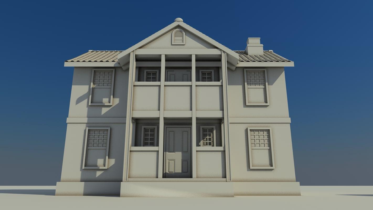 3d max farm house