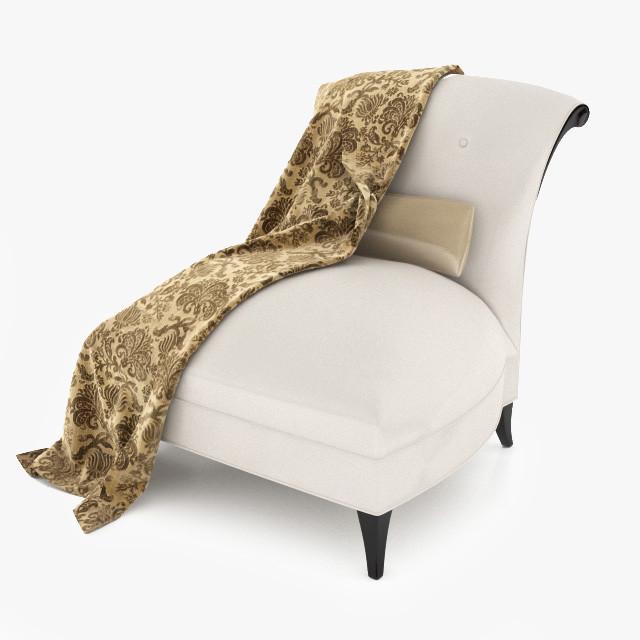 3d augusta slipper chair 60-0282 model
