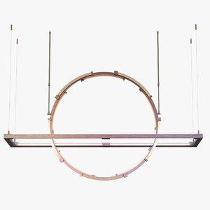 pendant light hubbardton forge 3d obj