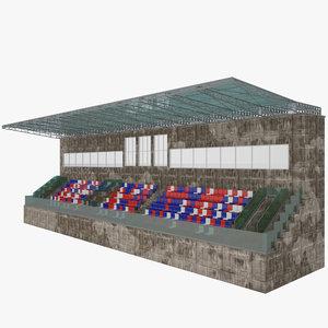 3d model stadium seat tribune