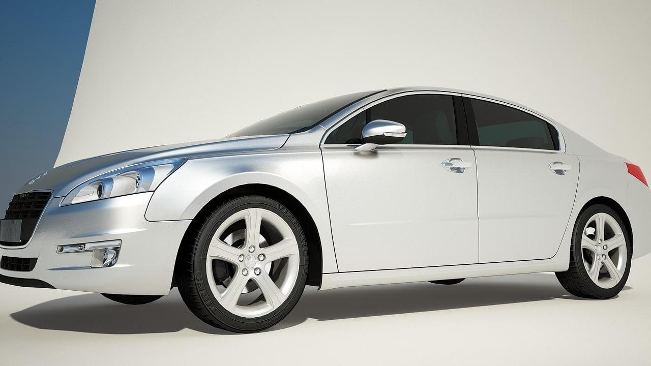 3d model peugeot 508 car