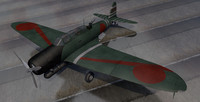 plane nakajima b5n2 kate 3d model