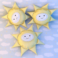 3d toy pillows sun model