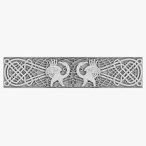 celtic ornament 01 3d model