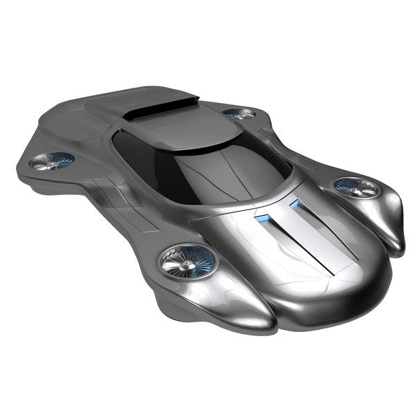 futuristic air machine 3ds