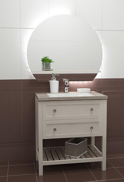 3d model bathroom transitional