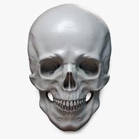 Human Skull Relief