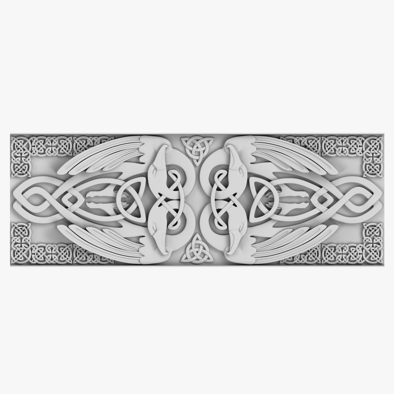 celtic ornament 03 3d 3ds