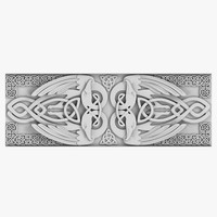 celtic ornament 03 3d 3ds