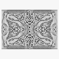 3d model celtic ornament 04