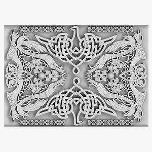 3d model celtic ornament 04