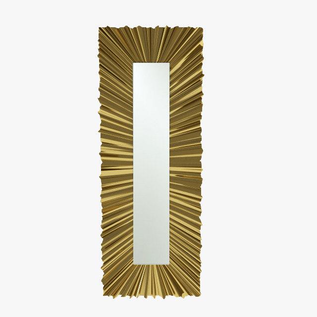 christopher ruffle rectangle mirror 3d model